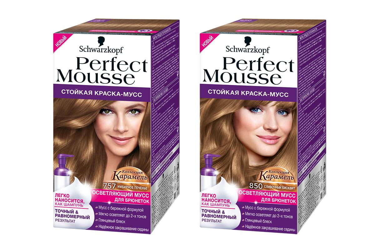 Краска для волос perfect mousse 757 имбирное печенье perfect mousse